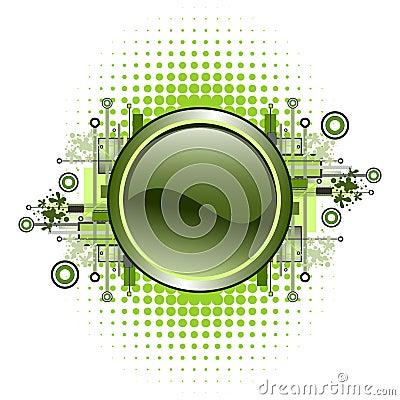 Free Grunge & Hi-tech Vector Button. Stock Photos - 4839603