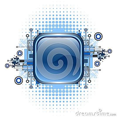 Free Grunge & Hi-tech Vector Button. Royalty Free Stock Photos - 5434268