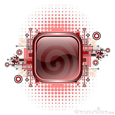 Free Grunge & Hi-tech Vector Button. Royalty Free Stock Images - 5472339