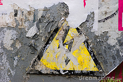 Grunge High Voltage sign