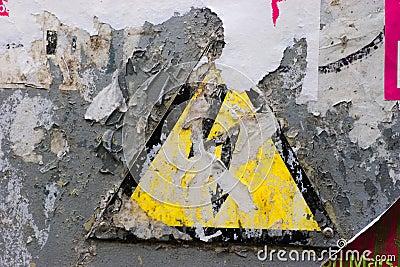 Grunge High Voltage sign