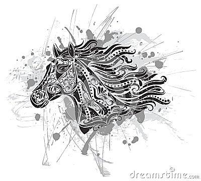 Grunge horse.