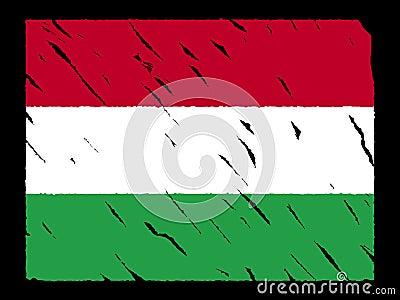 Grunge Hungarian flag