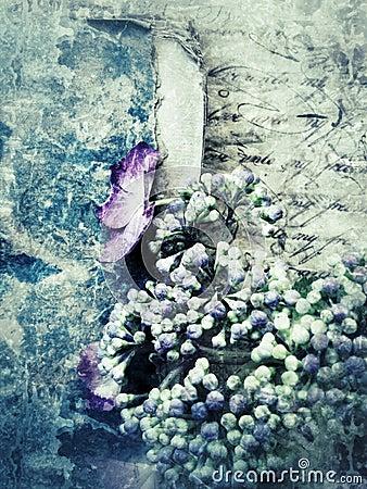 Grunge hydrangea