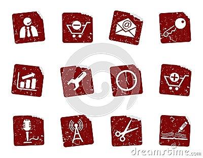 Grunge icon stickers 2