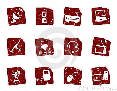 Grunge icon stickers 9