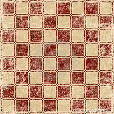 Grunge illustration of chessboard