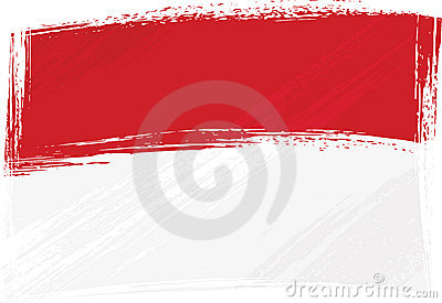 Grunge Indonesia and Monaco flag