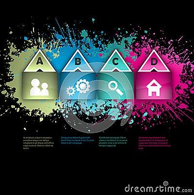 Grunge infographics layout