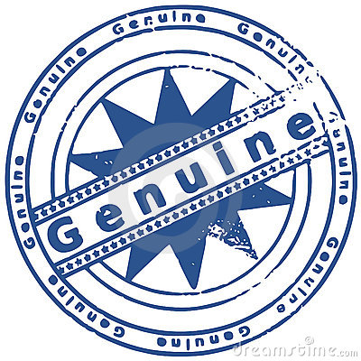 Grunge ink stamp GENUINE