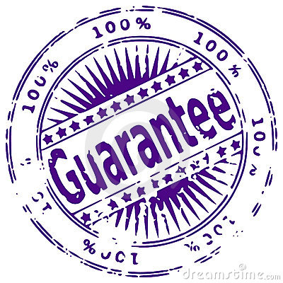 Grunge ink stamp GUARANTEE