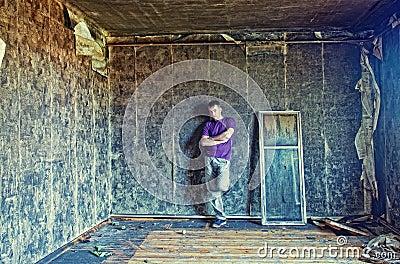 Grunge interior andman