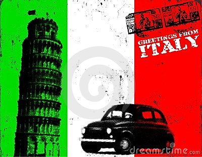 Grunge Italy poster