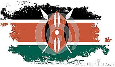 grunge kenya flag