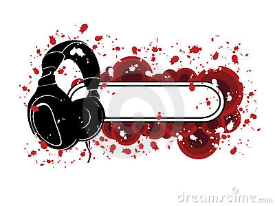 Grunge Kopfhörer-Muster