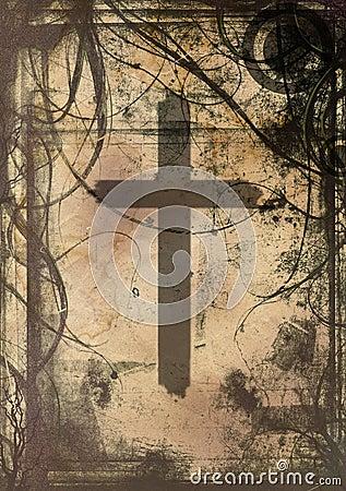 Grunge Kreuz