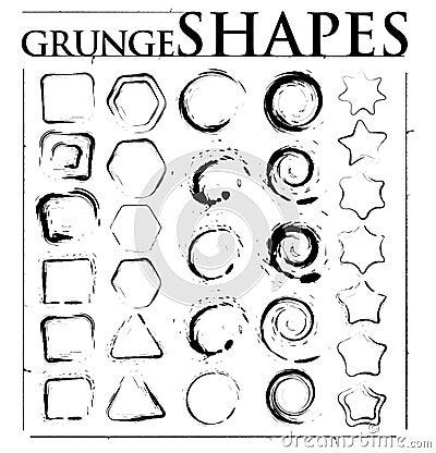 Grunge kształty