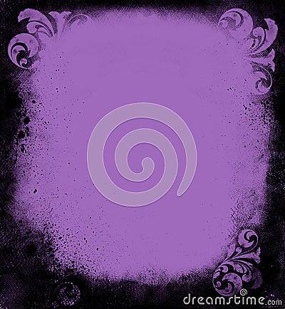 Grunge Lavender Victorian Frame