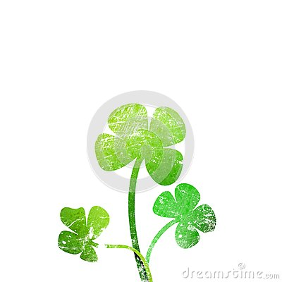 Grunge leaf clover Stock Photo
