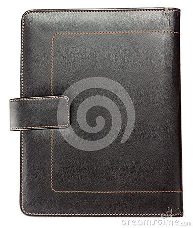 Grunge leather notebook cover