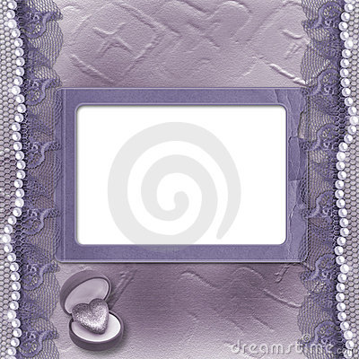 Grunge lilac card for invitation or congratulation