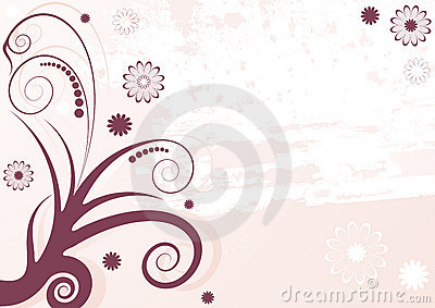 Grunge lilas abstract floral  background