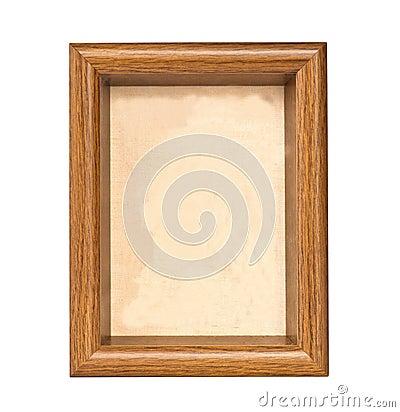 Grunge linen in wooden frame