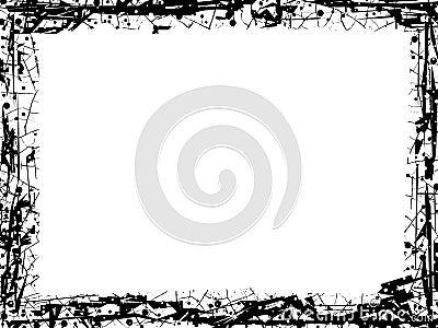 Grunge lines frame