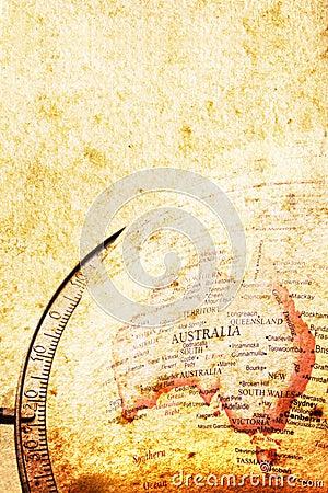 Grunge Map of Australia