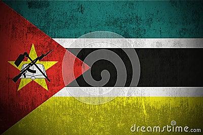 Grunge Markierungsfahne von Mosambik