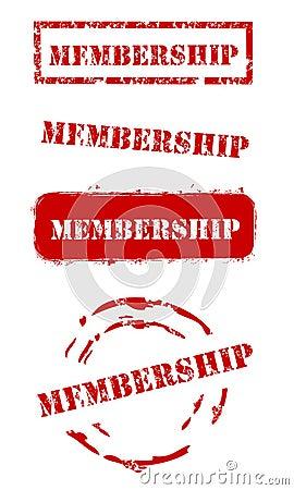 Grunge Membership Stamps