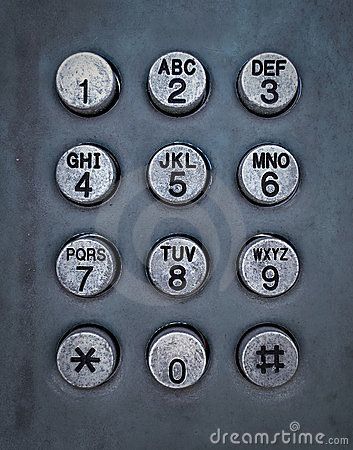 Grunge metal button phone