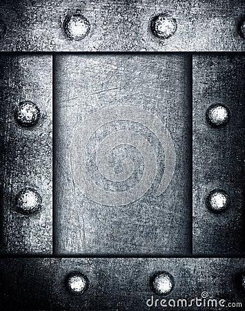 Grunge metal frame background