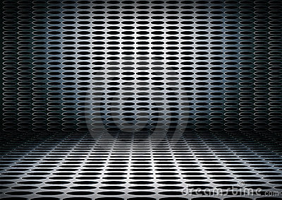 Grunge metal interior