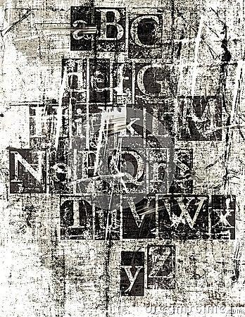 Grunge Metallic Font