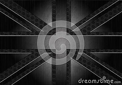Grunge metallic union jack