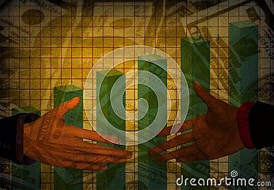 Grunge Money Handshake