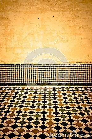 Grunge moroccan interior