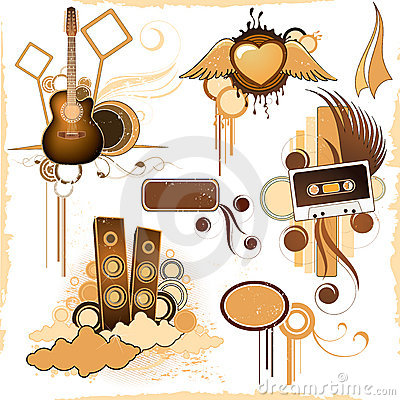 Free Grunge Music Gear Stock Images - 3891064