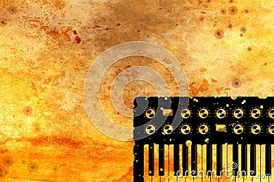 Grunge Music Keyboard Background