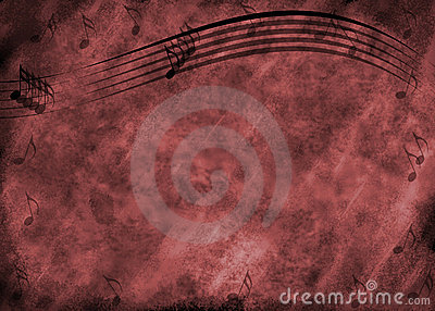 Grunge Music Note Background