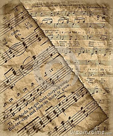 Grunge music sheet