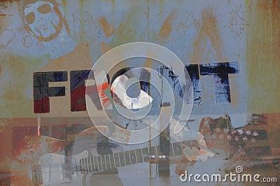 Grunge musician illustration