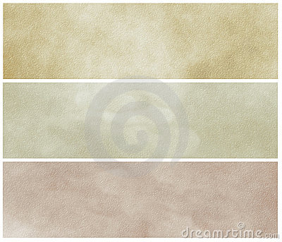 Grunge Neutral parchment banners or headers