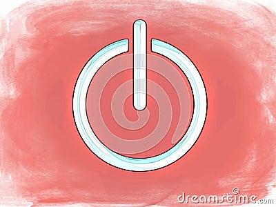 Grunge on-off  switch symbol