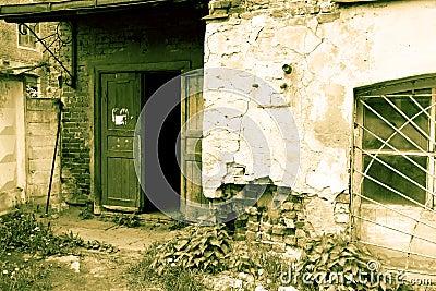 Grunge old house