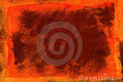Grunge orange canvas