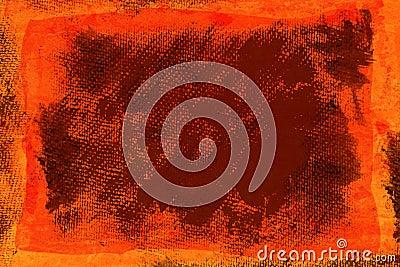 Grunge orange canvas