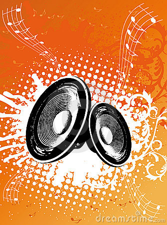 Free Grunge Orange Party Speaker Royalty Free Stock Photography - 4782817