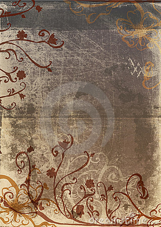 Grunge page with rustic design